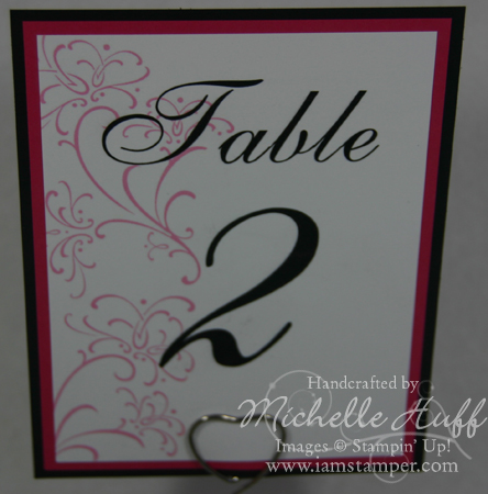 Table card